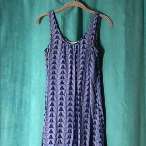 Merona Blue Triangle Maxi Dress